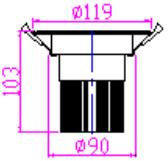 Встраиваемый поворотный светодиодный светильник PR-DL-R-15W